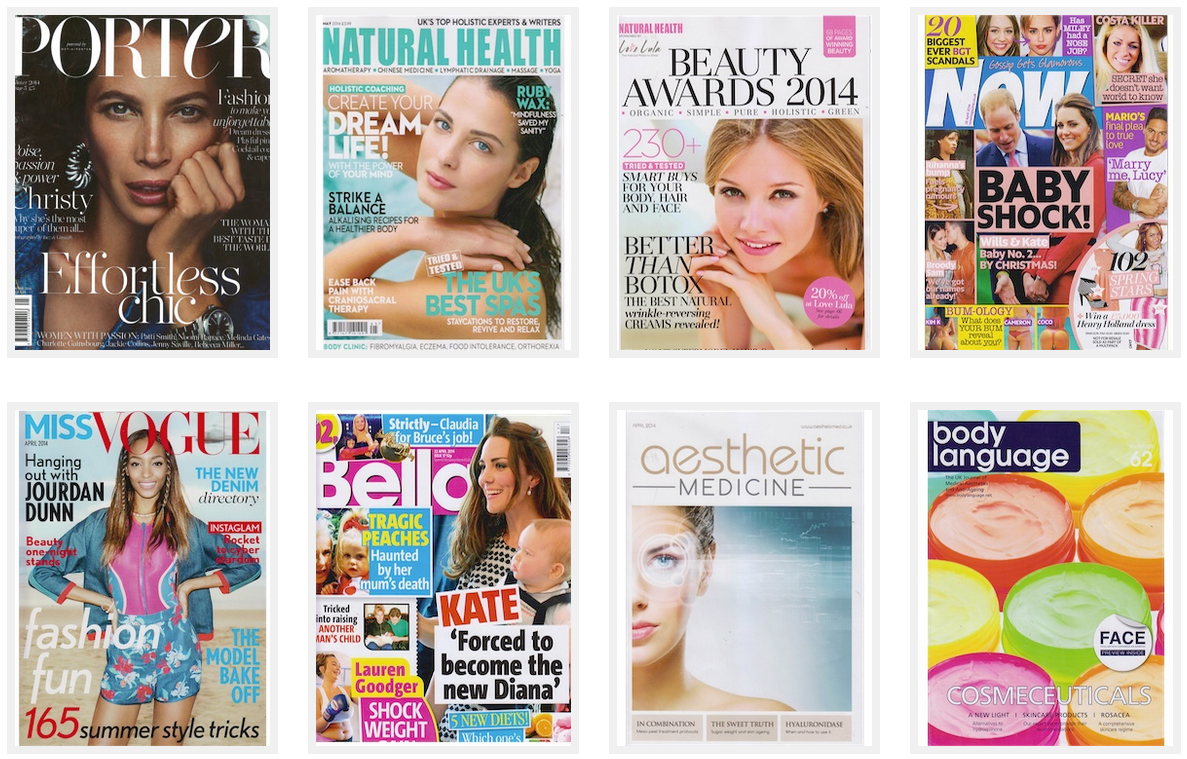 Skinade being featured in magazines