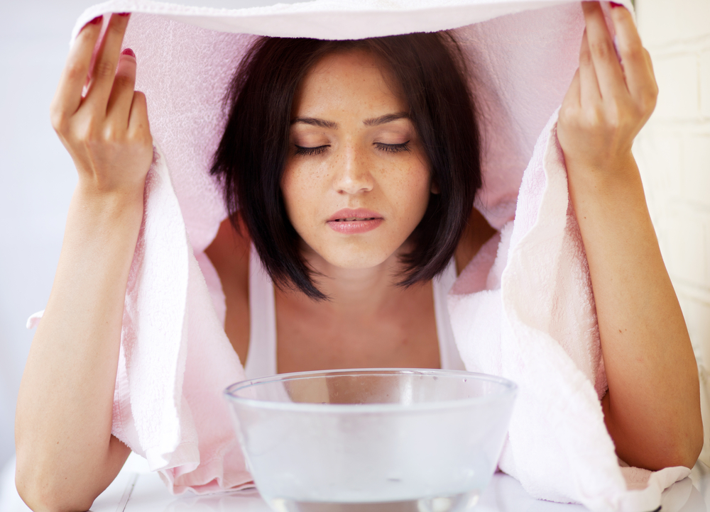 Facial Steam for Acne Treatment